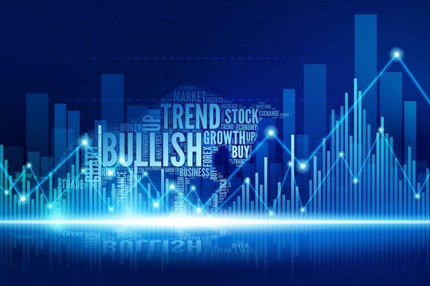 Toro virtuale che cammina nella città del mercato azionario