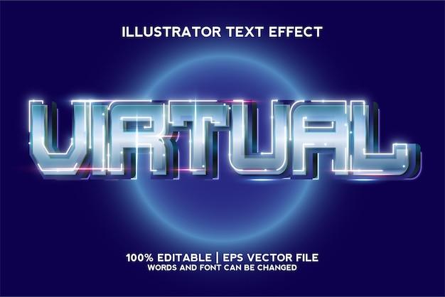 Modello di effetto testo del gioco virtuale