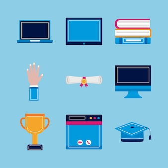 Set di simboli di laurea virtuale