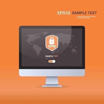 Rete privata virtuale cyber web sicurezza e concetto di privacy connessione vpn online sicura
