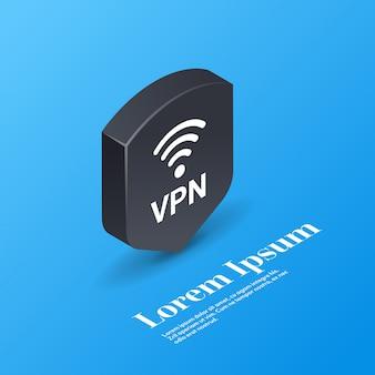 Rete privata virtuale sicurezza web concetto di privacy connessione vpn sicura protezione dei dati personali
