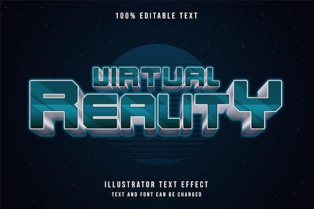 Realtà virtuale, 3d testo modificabile effetto verde gradazione testo in metallo stile