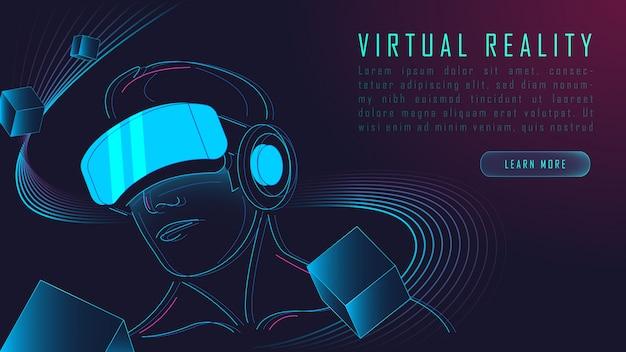 Sfondo di realtà virtuale