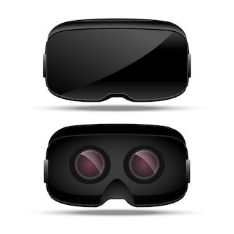 Dispositivo di concetto di realtà virtuale. intrattenimento elettronico digitale. vetro vr. vista frontale e posteriore della tecnologia dell'innovazione.