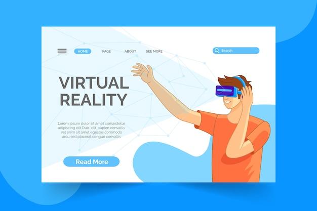 Concetto di realtà virtuale - pagina di destinazione