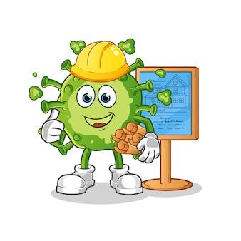 Illustrazione di virus architect