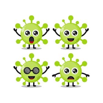Personaggio mascotte del virus carino