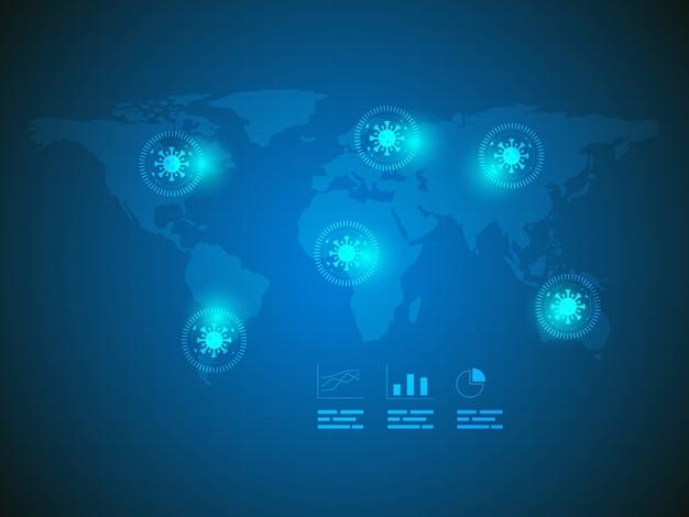 Sfondo di tecnologia di ricerca di virus