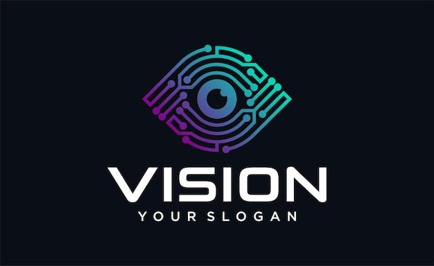 Logo vision tech vision