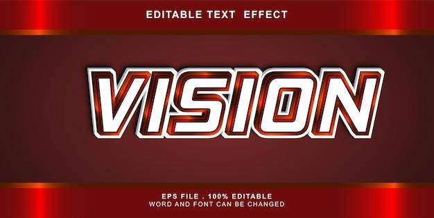 Effetto testo di visione modificabile