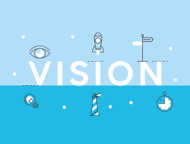 Parola e icone di visione