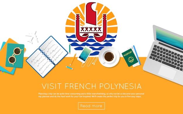 Visita il concetto di polinesia francese per il tuo banner web