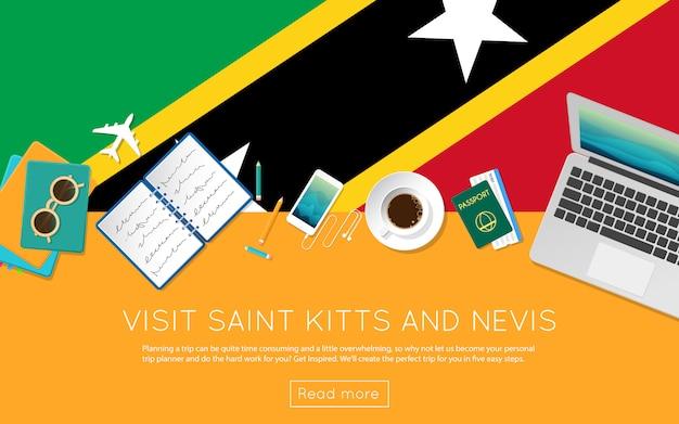 Visita il concetto di saint kitts e nevis per il tuo banner web