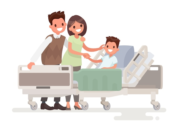 Visita dei visitatori al paziente in ospedale