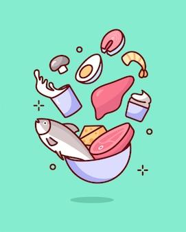 Illustrazione di vitamina b2