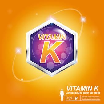 Locandina annuncio di vitamina k.