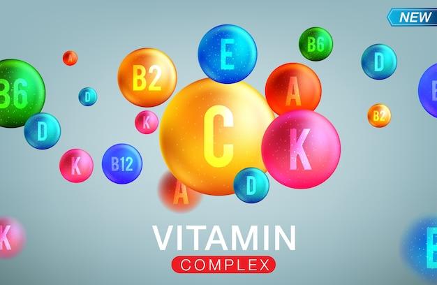 Banner complesso di vitamine e minerali