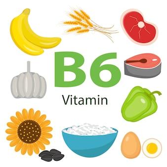 Set di alimenti di vitamine e minerali