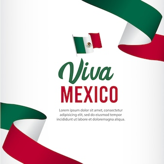 Modello di viva mexico independence day.