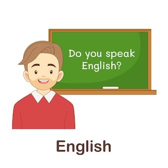 Flash card di vocabolario per bambini. inglese a con foto inglese a