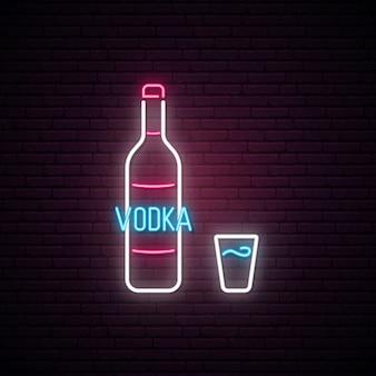 Insegna al neon di vodka.