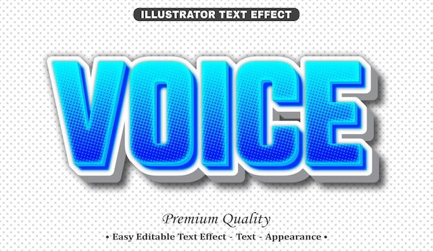 Effetto di stile di testo 3d vocale