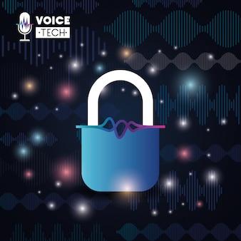 Tecnologia di riconoscimento vocale con lucchetto