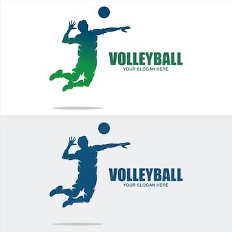 Vettore dell'icona del logo di pallavolo sport