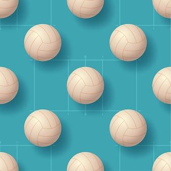 Illustrazione di pettern senza cuciture della palla di pallavolo