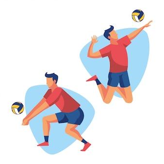 Giocatore di atleta sport pallavolo