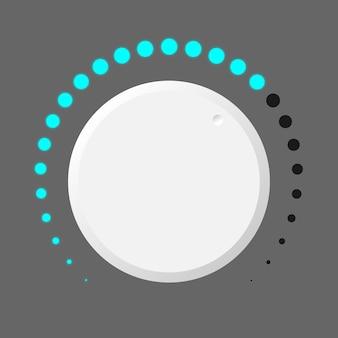 Icona del volume su sfondo grigio illustrazione vettoriale vettore premium
