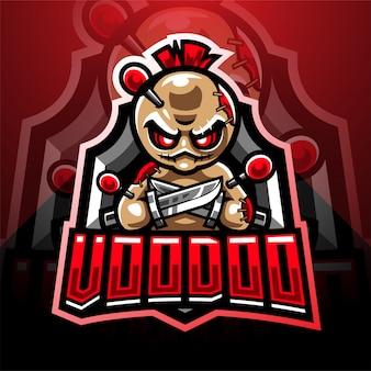 Voodoo esport logo design mascotte