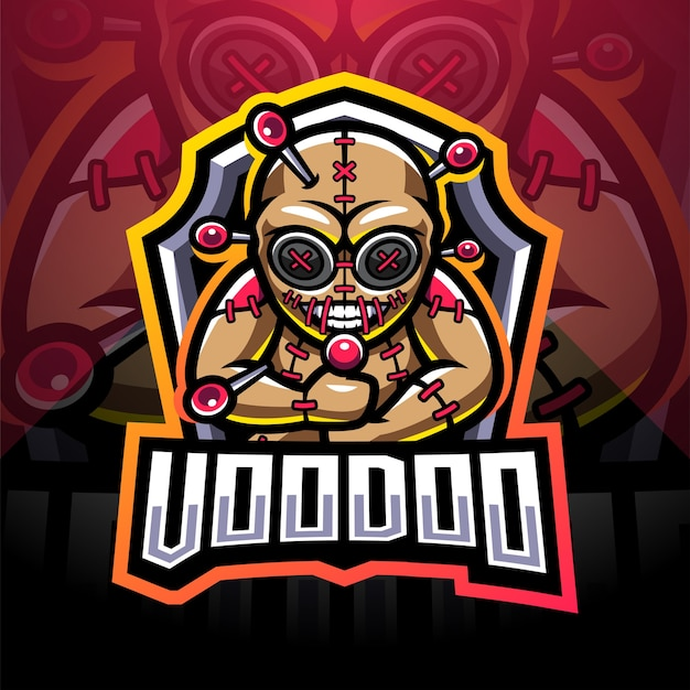 Voodoo esport mascotte logo design