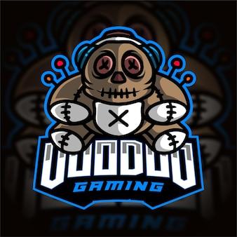 Voodoo gamer esport logo di gioco