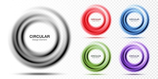Banner rotondo gradiente di vortice layout di presentazione del testo struttura astratta del cerchio blu ricciolo cornice circolare sfumata traslucida