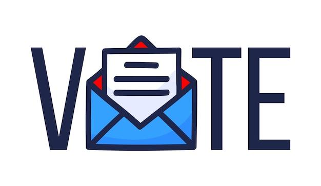 Vota per posta illustrazione