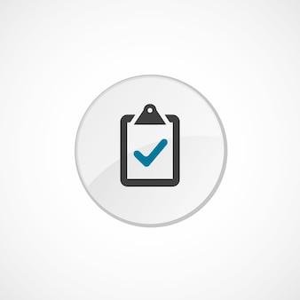 Icona di voto 2 colorata, grigia e blu, badge cerchio
