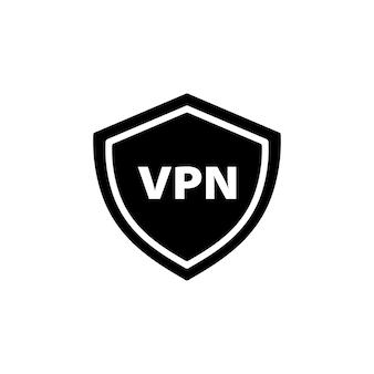 Icona vpn in nero. rete privata virtuale. vettore env 10. isolato su priorità bassa bianca.