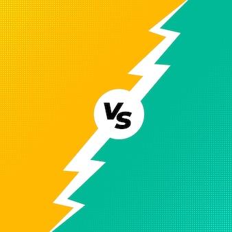 Sfondo vs per la competizione comparativa