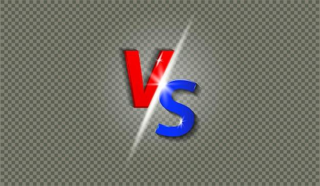 Lettere vs con illustrazione effetto brillante