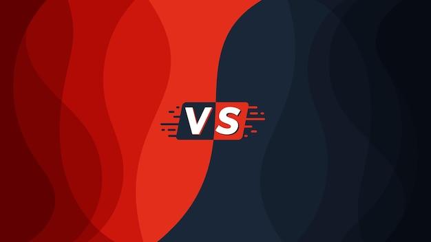 Vs contro sfondo e banner per il confronto dei prodotti o il modello di battaglia sportiva