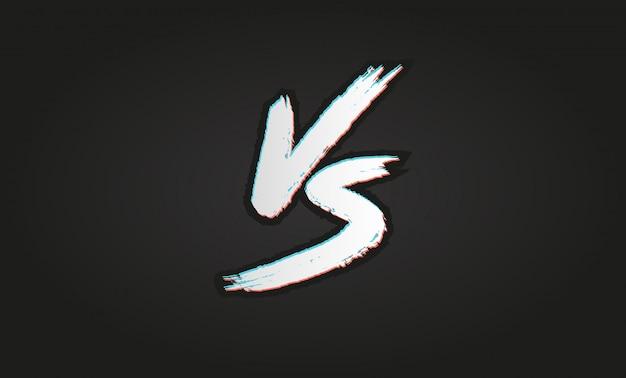 Vs. contro il logo della lettera. battaglia vs partita, gioco