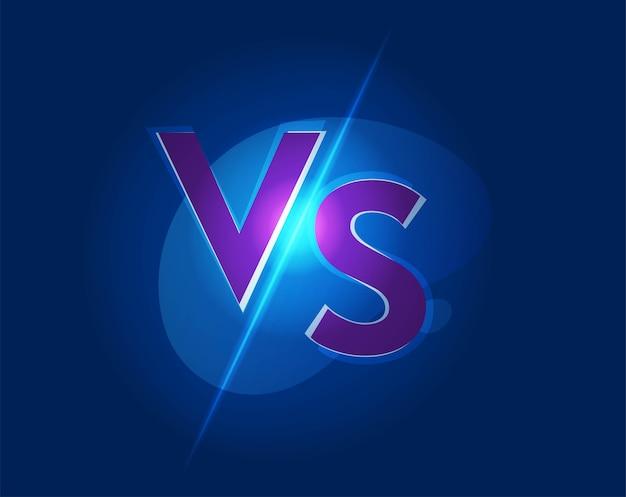 Vs contro l'icona del logo per l'illustrazione del gioco di lotta di battaglia