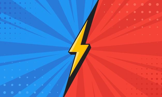 Vs. contro lo schermo. il concetto di battaglia, competizione, duello o confronto. illustrazione vettoriale