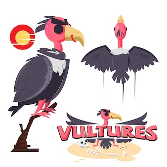 Uccello avvoltoio con logo