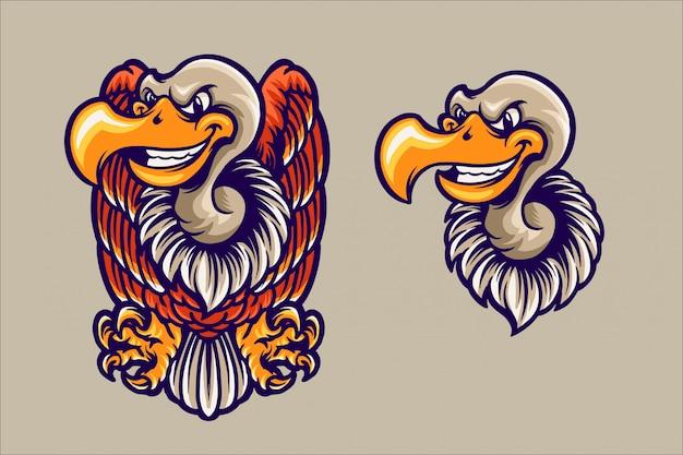 Logo della mascotte dell'avvoltoio