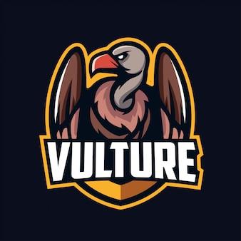 Mascotte avvoltoio per sport ed esports logo isolato