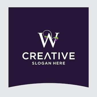 Disegno del logo dell'uva w
