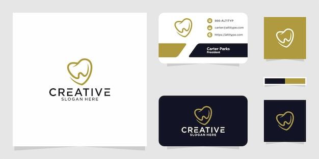 Il design grafico del logo dentale w love per altri usi è perfetto