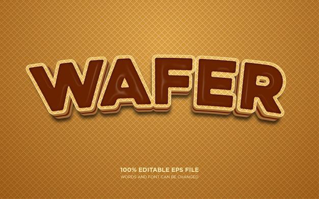 Wafer 3d effetto di stile di testo modificabile
